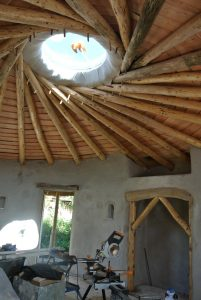 Reciprocal frame roof and central skylight...wow!!!