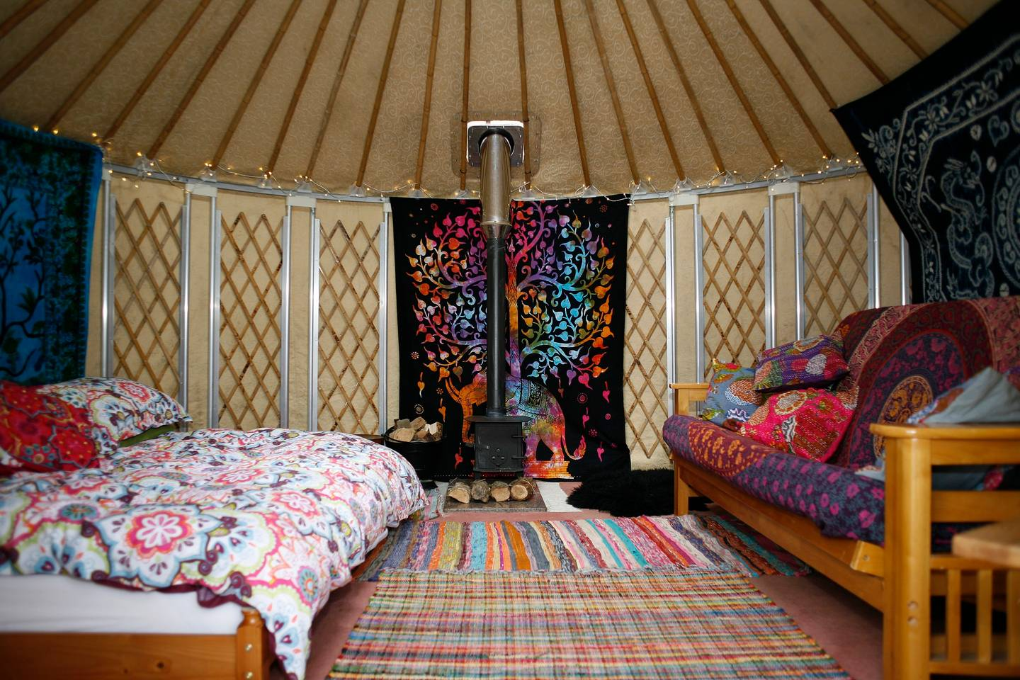little yurt inside