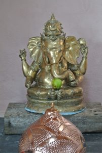 An apple offering to Ganesh!