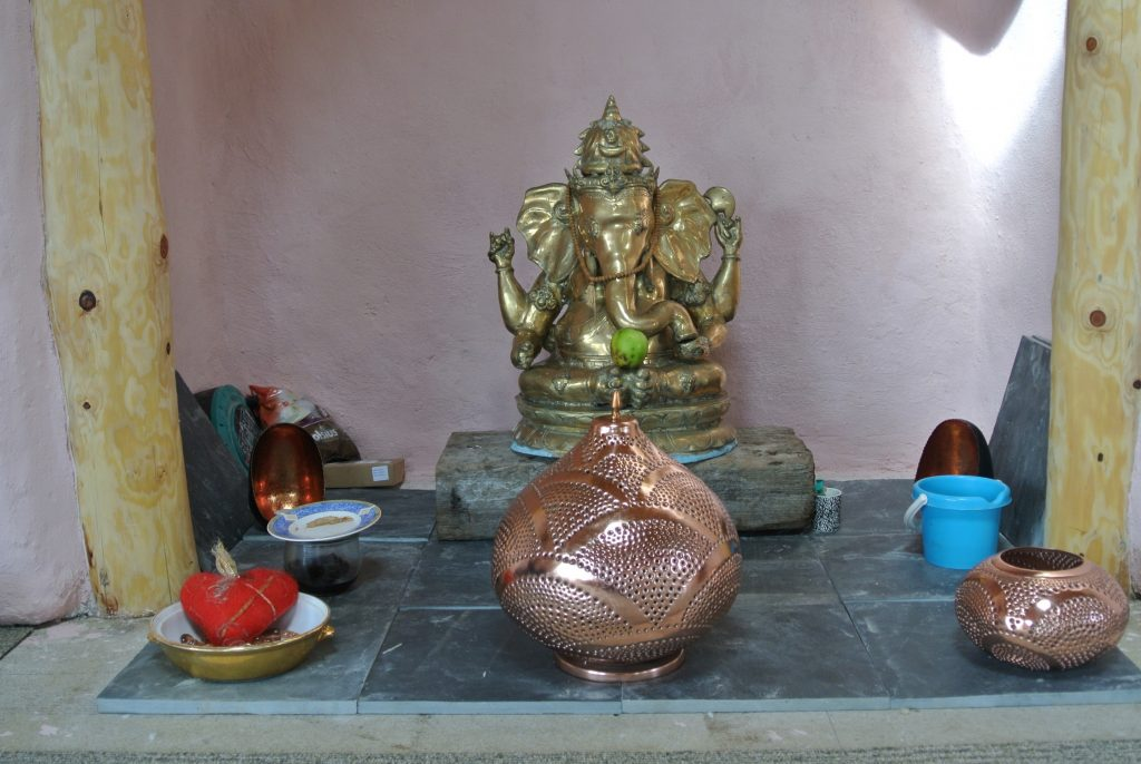 Ready to lay the hearth - thank you Ganesh for helping us overcome all those obstacles