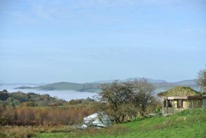Looking out west we can see Arenig Mawr in the distance - Ty Mam Mawr eco retreat centre