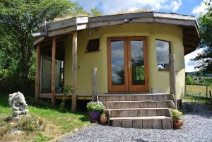 Straw bale roundhouse - eco retreat centre - North Wales
