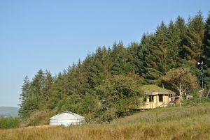 Off grid eco retreat centre nestled in Cynwyd forest high in the Berwyn Mountains, North Wales