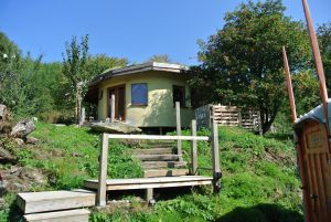 The straw bale roundhouse and big yurt - Ty Mam Mawr eco retreat centre