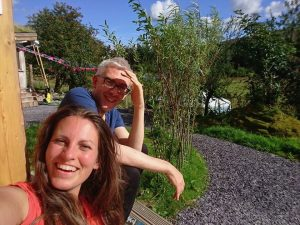 Happy people at Ty Mam Mawr 's first bio energy meditation retreat