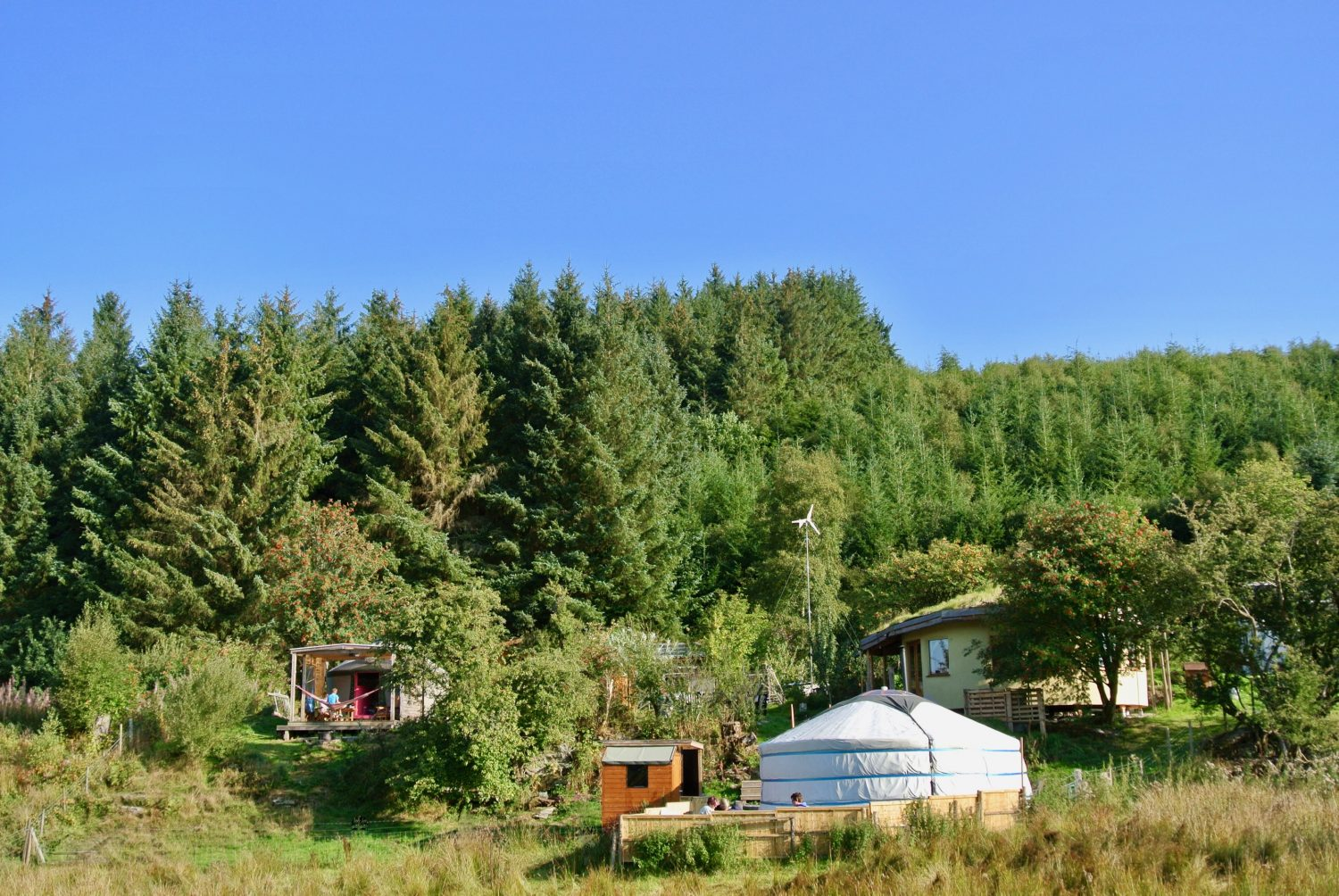 Off grid living at Ty Mam Mawr eco retreat centre is about