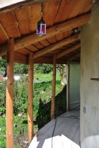 The roundhouse porch before cladding and painting