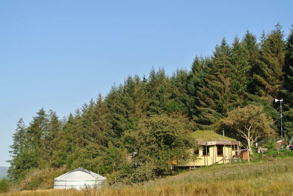 Ty Mam Mawr eco retreat centre straw bale round house and mongolian yurt in North Wales